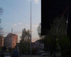 Ново, македонско знаме вратено на јарболот