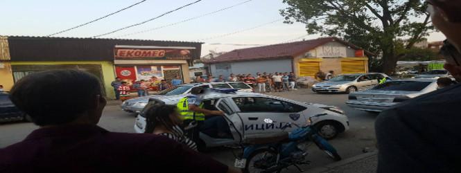 Двајца полициски службеници вербално нападнати од возач без дозвола