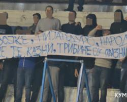 Навивачката група Кумани по оставката на Божиновски најави враќање на трибините