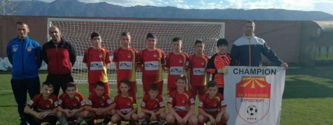 Младите фудбалери од Куманово Еуроспорт го  освоија првото место на Пандев Куп 2018