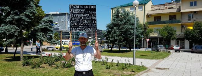 Фарбарот на Титов споменик реши јавно да каже зошто го сторил делото, од полицијата беше лоциран, легитимиран и одведен во СВР Куманово