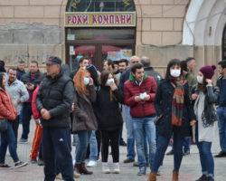 Слаба излезност на протестот за чист воздух