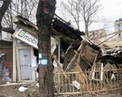 Се урна стара куќа во центар на Куманово