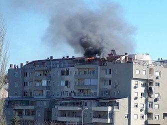 Жена е повредена во обид да го изгасне пожарот во станот