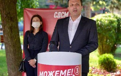 Спасовски ја започна кампањата од Куманово:  Одлука да продолжиме по правиот пат значи сигурност за граѓаните