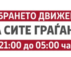 Владата реши од утре полицискиот час да почнува во 21 часот