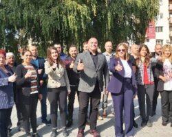 """Максим Димитриевски, независен кандидат и листата на советници """"За наше Куманово"""" вечева со промоција на градскиот плоштад"""